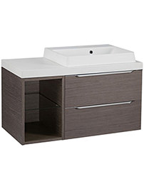 Tavistock Array Dark Java 600mm 2 Drawer Basin Unit With 300mm Open Unit