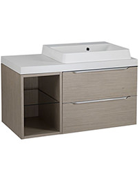 Tavistock Array Light Java 600mm 2 Drawer Basin Unit With 300mm Open Unit