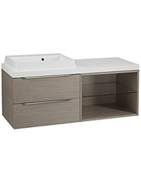 Tavistock Array Light Java 600mm 2 Drawer Basin Unit With 600mm Open Unit