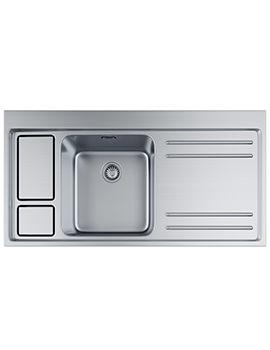 Franke Largo Workcentre LAX 211-W-36 Stainless Steel RH Drainer Inset Sink