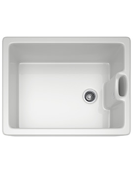 Franke Belfast BAK 710 Ceramic 1.0 Bowl White Kitchen Sink
