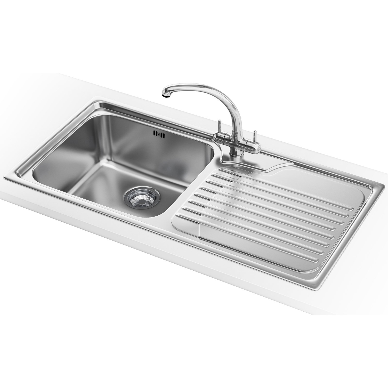 Franke Galassia GAX 611 Propack - Stainless Steel RHD Sink And Tap