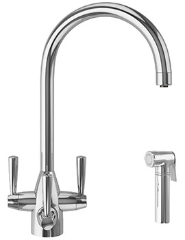 Franke FilterFlow Doric Chrome Kitchen Sink Tap With Hand Spray