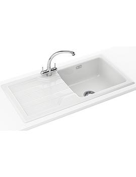 Franke Galassia GAK 611 Propack - Ceramic White Sink And Tap