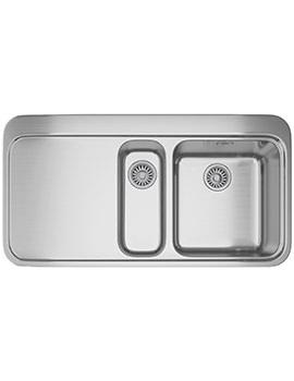 Franke Sinos SNX 251 Stainless Steel Left Hand Drainer 1.5 Bowl Inset Sink
