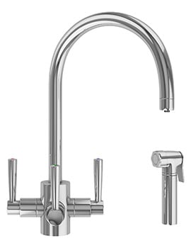 Franke FilterFlow Olympus Chrome Kitchen Sink Tap With Hand Spray