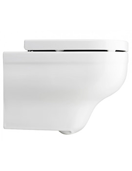 Bauhaus Central Wall Hung WC Pan With Wrap Over Soft Close Seat