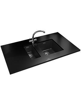 Franke Sirius SID 110 16 + 110 34 Propack-Tectonite Black Sink And Tap