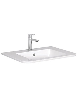 Bauhaus Celeste White Ceramic Basin 600mm