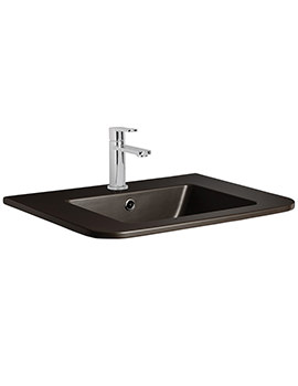 Bauhaus Celeste PLUS+TON Matt Black Ceramic Basin 600mm