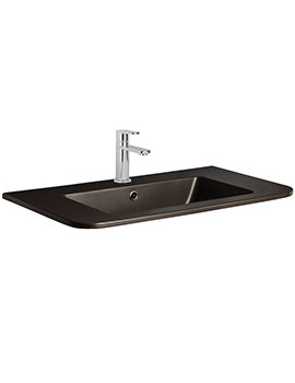 Bauhaus Celeste PLUS+TON Matt Black Ceramic Basin 800mm