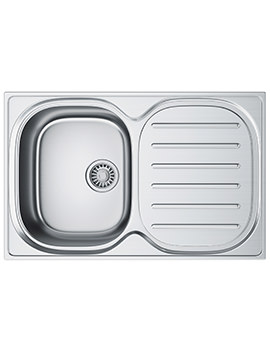 Franke Compact Plus CPX P 611 780 Stainless Steel RHD 1.0 Bowl Inset Sink