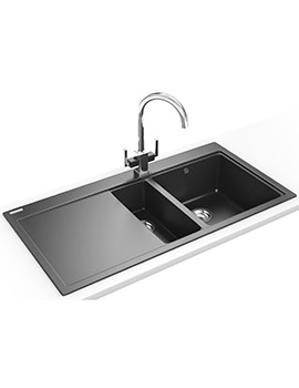 Franke Mythos MTG 651-100 DP - Fragranite Onyx 1.5 Bowl LHD Sink And Tap