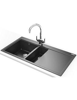 Franke Mythos MTG 651-100 DP - Fragranite Onyx 1.5 Bowl RHD Sink And Tap