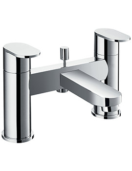 Flova Smart Deck Mounted Bridge Style Bath And Shower Mixer Tap With Kit