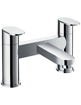 Flova Smart Deck Mounted Chrome Finish Bridge Style Bath Filler Tap