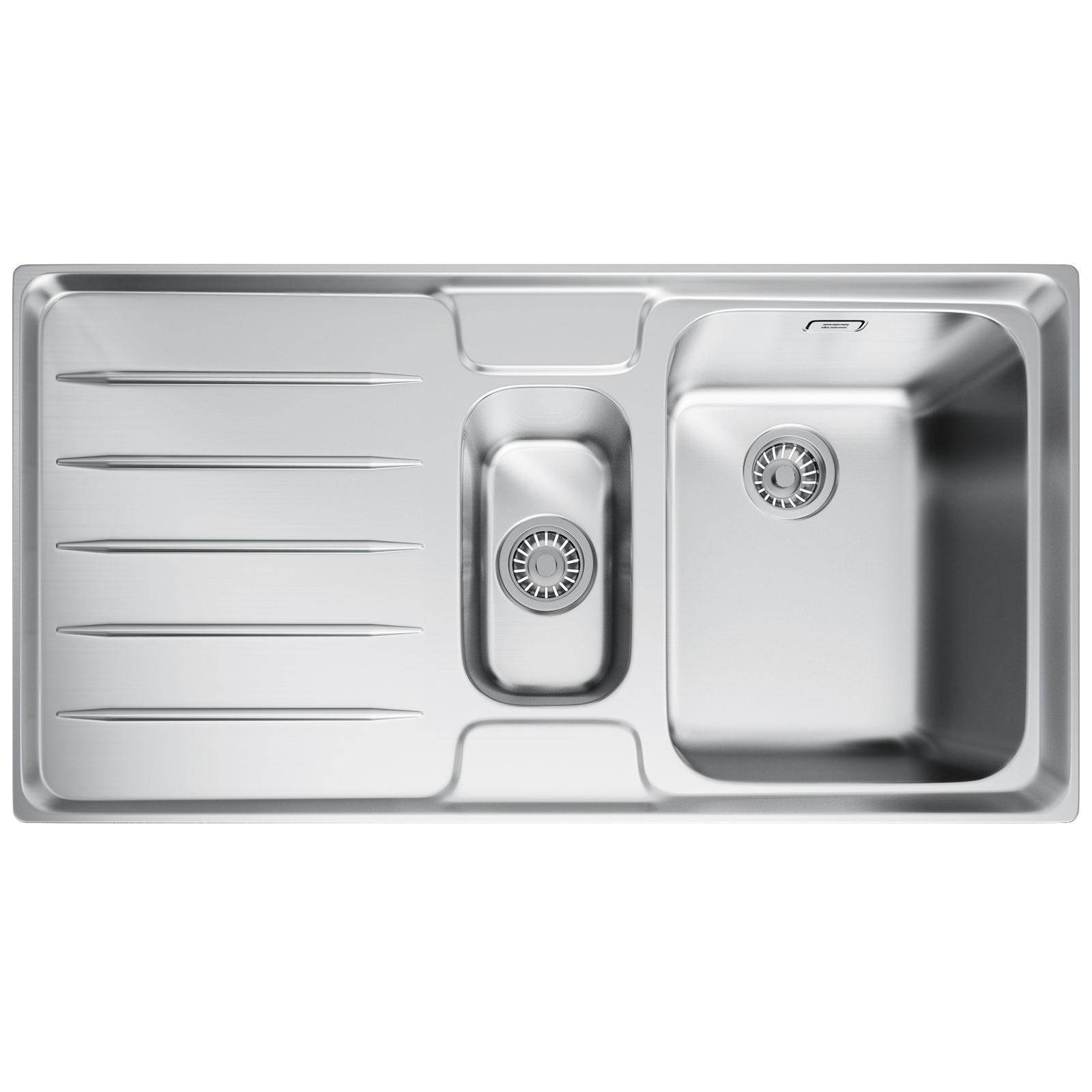 Cleaning Franke Sinks : Franke Laser LSX 651 Stainless Steel Left Hand 1.5 Bowl Inset Sink