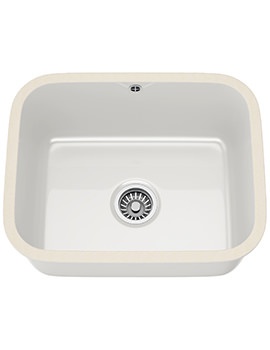 Franke VBK 110 50 Ceramic 1.0 Bowl White Undermount Sink