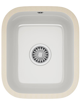 Franke VBK 110 33 Ceramic 1.0 Bowl White Undermount Sink