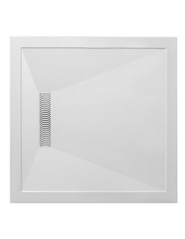 Simpsons Square 900 x 900mm Shower Tray With Linear Waste