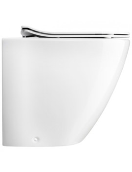 Bauhaus Svelte White Back To Wall WC Pan With Soft Close Seat