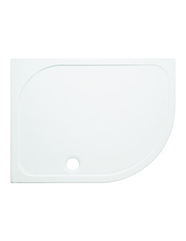 Simpsons 1000mm Offset Quadrant 45mm Stone Resin Low Level Tray - RH