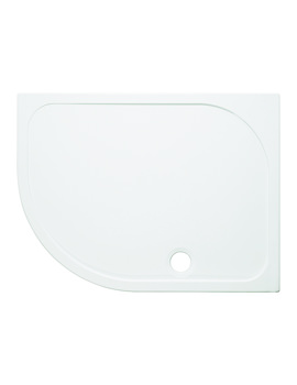 Simpsons 1200 x 900mm Offset Quadrant 45mm Stone Resin Tray - LH