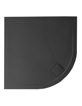 Simpsons Plus Ton Quadrant 30mm Matt Black Shower Tray 900 x 900mm