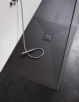 Simpsons Plus Ton Rectangular 30mm Matt Black Shower Tray 1700 x 800mm