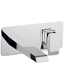 Crosswater Wedge Wall Mounted 2 Hole Basin Mixer Tap Set
