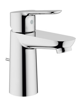 Grohe BauEdge 1/2 Inch Basin Mixer Tap With Pop Up Waste Chrome