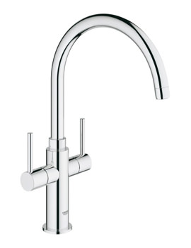 Grohe Ambi Cosmopolitan Two Lever Sink Mixer Tap With Swivel Spout