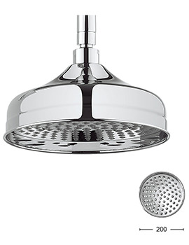 Crosswater Belgravia Chrome 200mm Fixed Shower Head