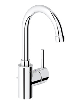 Grohe Concetto High Spout Basin Mixer Tap With Pop Up Waste