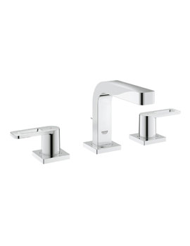 Grohe Quadra Three Hole Basin Mixer Tap With Pop Up Waste Chrome
