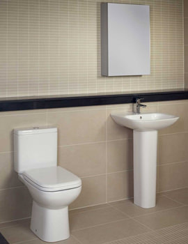 RAK Origin 62 Cloakroom Suite - White