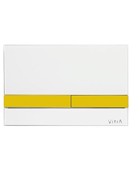 VitrA Select Mechanical Control Panel - Glass White And Gold
