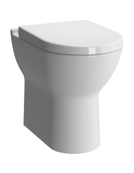 VitrA S50 Comfort Height BTW White WC Pan With Toilet Seat