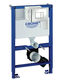 Grohe Rapid SL 0.82m WC Frame And Cistern 4 In 1 Pack With Skate Flush Plate