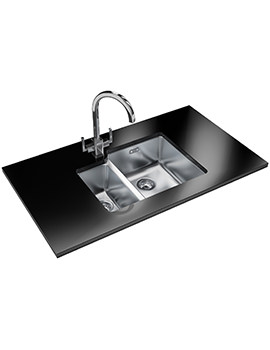 Franke Kubus KBX 160 34-16 Designer Pack - Stainless Steel Sink And Tap
