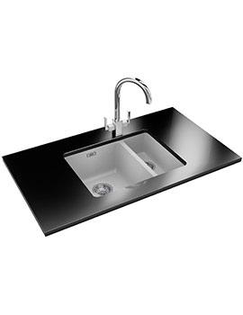 Franke Kubus KBG 160 Designer Pack - Fragranite Polar White Sink And Tap