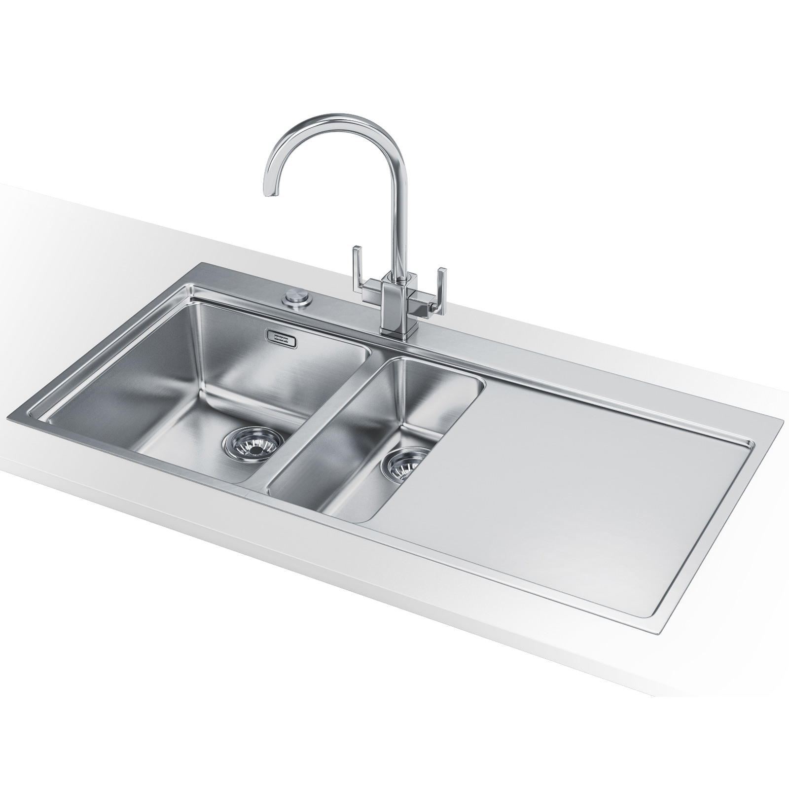 Franke Mythos Sink Stainless Steel : Franke Mythos MMX 251 - Stainless Steel Right Drainer Sink And Tap