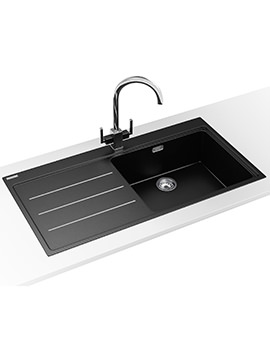 Franke Mythos Fusion MTF 611 DP - Fragranite Onyx LHD Sink And Tap