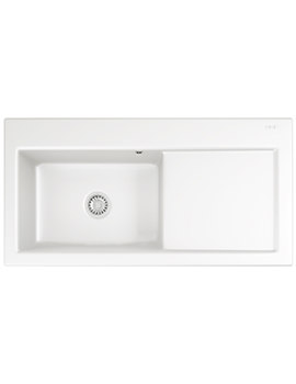 Franke Mythos MTK 611 Ceramic White 1.0 Bowl RHD Inset Sink