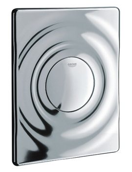 Grohe Surf Chrome WC Wall Plate For Single Flush Actuation