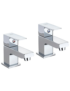 Twyford X62 Pair Of Bath Pillar Taps
