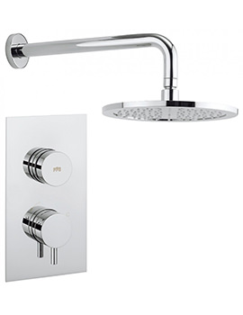 Crosswater Dial - Kai Lever Trim Single Outlet Thermostatic Shower Valve With Fixed Head Amd Arm