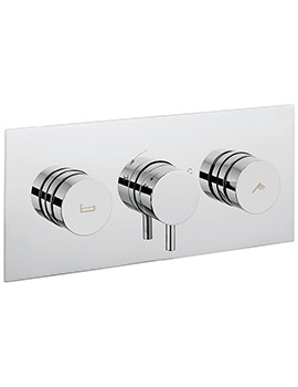 Crosswater Dial Kai Lever Trim Thermostatic Bath Valve with 2 Way Diverter