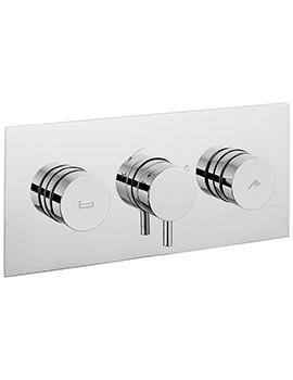 Crosswater Dial 2 Control Bath - Shower Valve With Kai Lever Landscape Trim