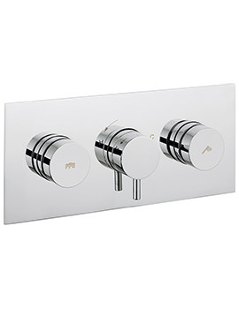 Crosswater Dial 2 Control Shower Valve With Kai Lever Landscape Trim